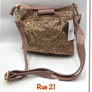 Rue 21 Women's Mauve Sparkle Purse New